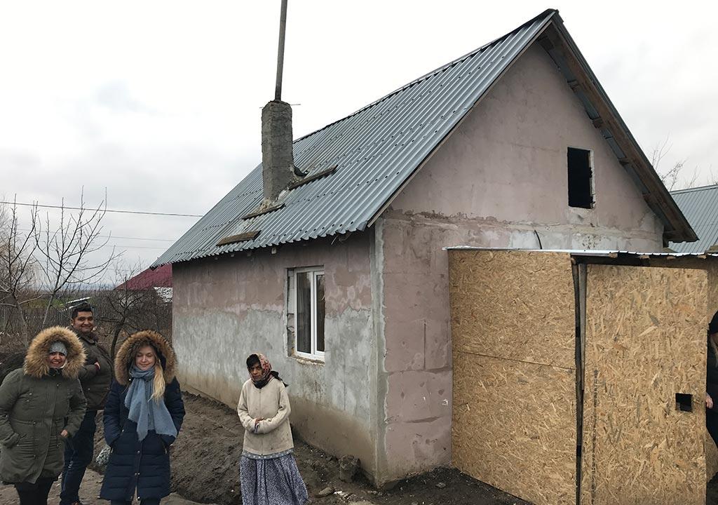 Utsiden av huset etter oppussing.