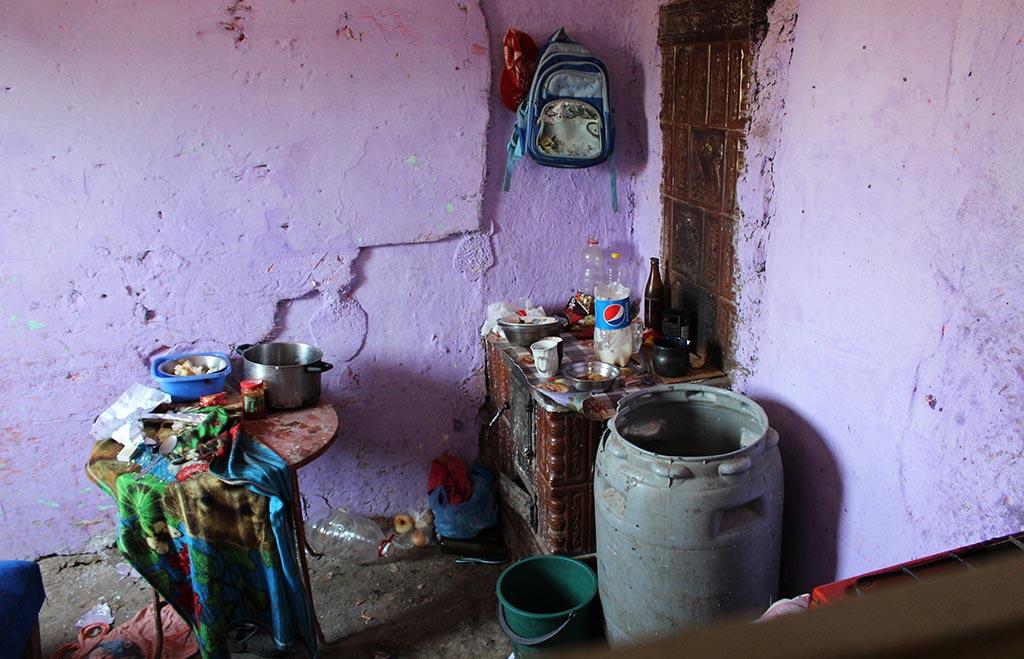Kjøkkenet før oppussing.